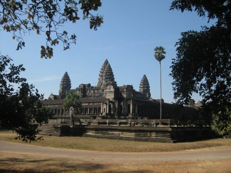 Tempelanlage Angkor Wat in Kambodscha