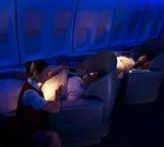 B747-400 First Class in der Nacht