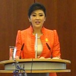 Thai MP Yingluck Shinawatra in Berlin