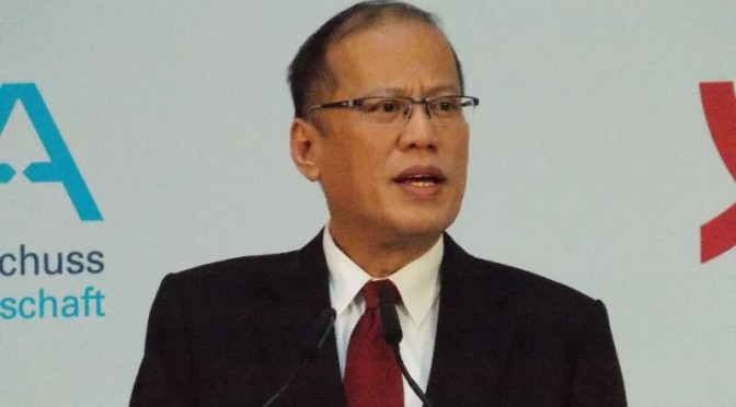 Philippinischer Präsident Aquino III besucht Berlin