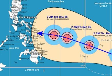 Philippinen droht ein neuer Wirbelsturm