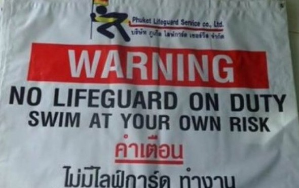 Phuket: Schwimmen auf eigene Gefahr!