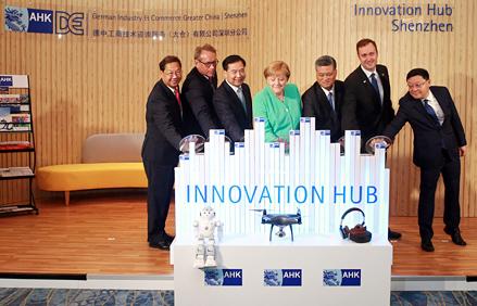 Shenzhen : Merkel eröffnet AHK Innovation Hub