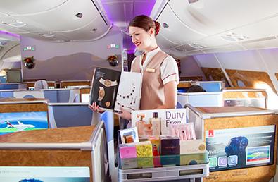 Online Shopping im Flugzeuggefragt