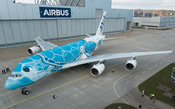 ANA nimmt ersten Airbus A380 in Empfang