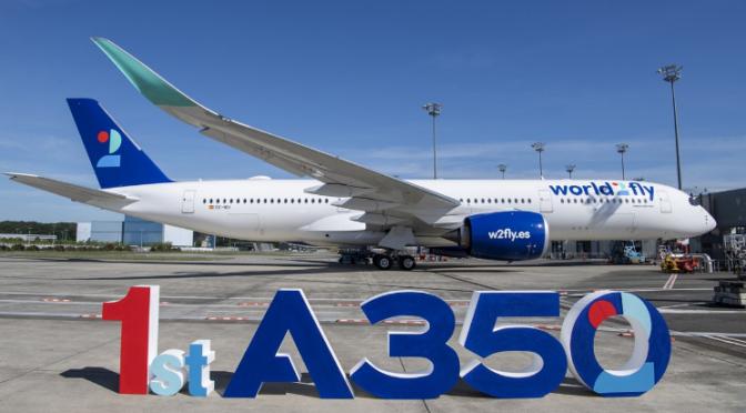 Airbus: Erste A350-Auslieferung an world2fly